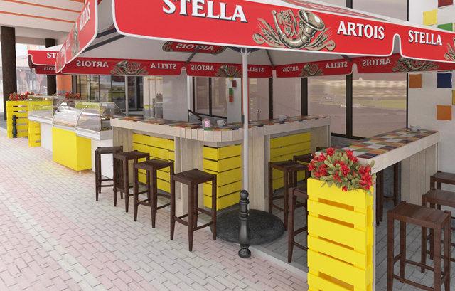 Дизайн літнього майданчика кафе