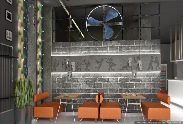 """Дизайн кафетерія в фітнес-барі клуб """"Gladiator"""""""