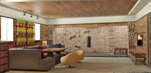 Дизайн комнаты отдыха в стиле лофт