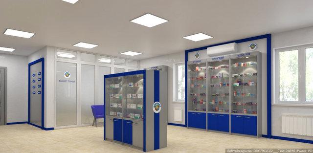 Дизайн інтер'єру аптеки