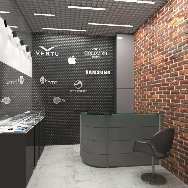 Дизайн магазина-салона в стиле лофт