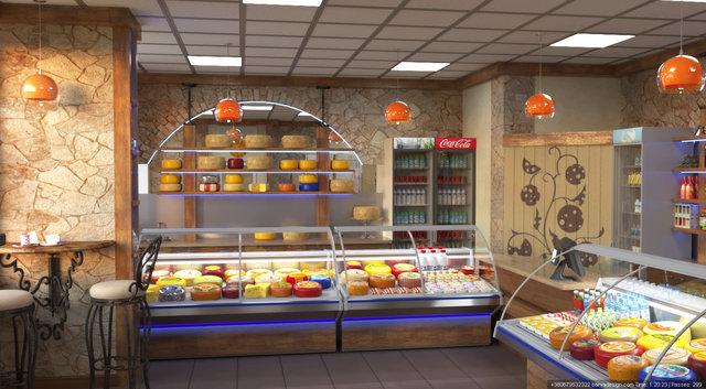 Дизайн продуктового магазину на пр.П.Григоренка