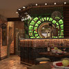 Дизайн ресторана в стиле стимпанк. Интерьер зала первого этажа. Барная стойка