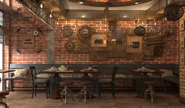 Дизайн ресторана в стиле стимпанк