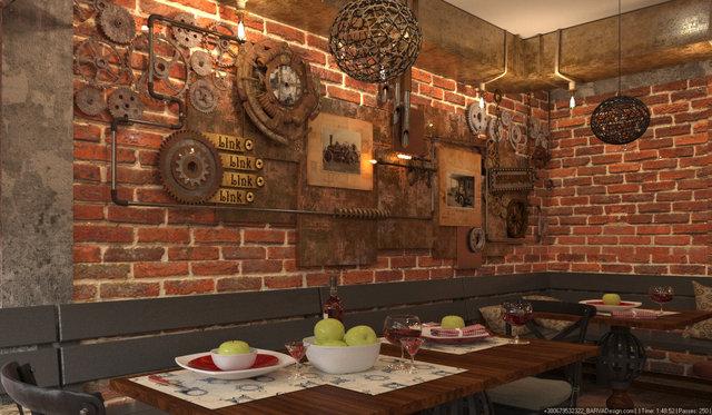 Дизайн ресторану в стилі стімпанк