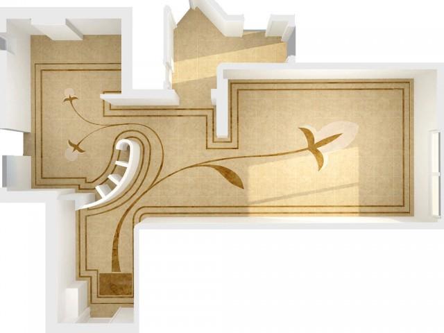Дизайн підлоги. Панно на підлозі