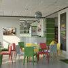 Дизайн антикафе в Житомире. Кафе и зона футбола