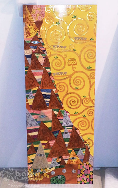 Лаковые картины по мотивам работ Климта. Левый декор. Квартира в стиле арт-деко