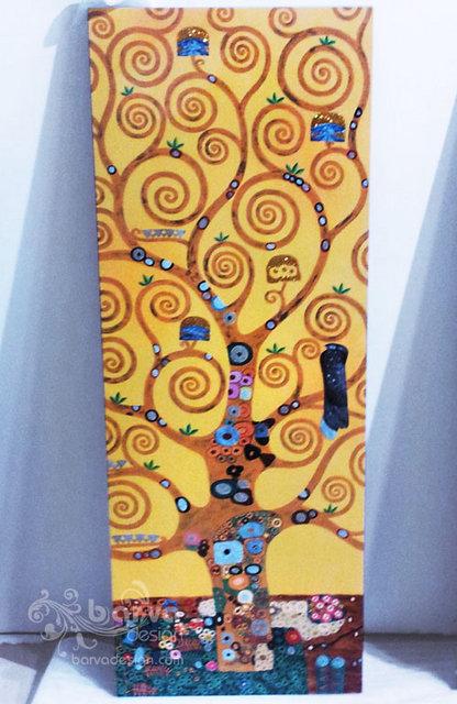 Лаковые картины по мотивам работ Климта. Центральный декор. Квартира в стиле арт-деко