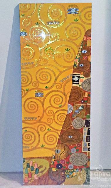 Лаковые картины по мотивам работ Климта. Правый декор. Квартира в стиле арт-деко