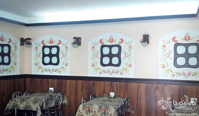 Фото ремонта кафе в українському стилі
