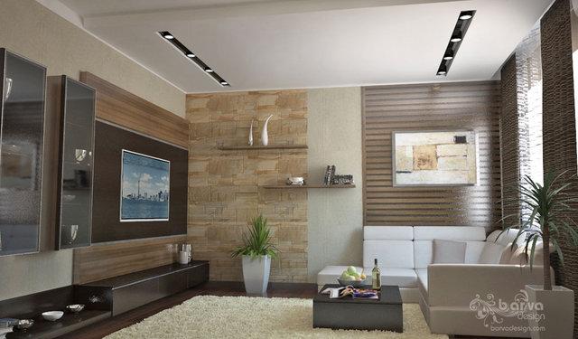 Интерьер для молодой семьи. Дизайн гостиной