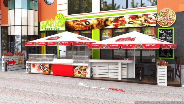 Дизайн летней площадки кафе в Гидропарке