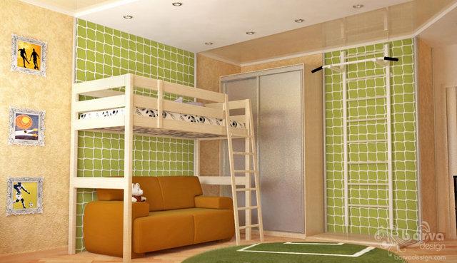 """Вариант дизайна детской комнаты. Квартира в """"Парковому мicтi"""""""