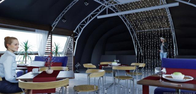 Дизайн ресторану на кораблі Св.Андрій