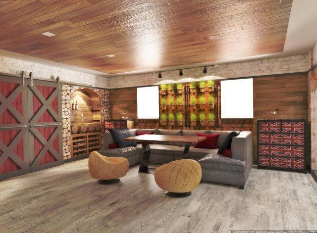 Комната отдыха в стиле лофт
