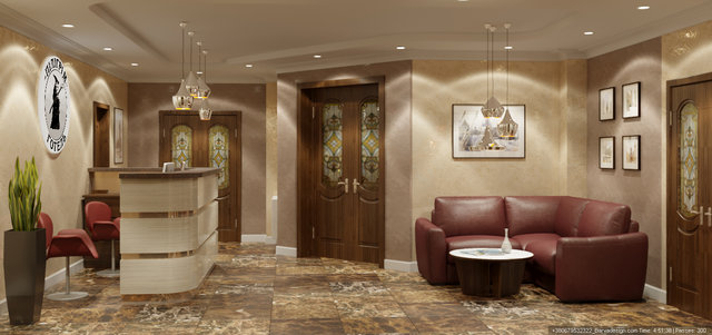 Дизайн інтер'єру готелю. Холл