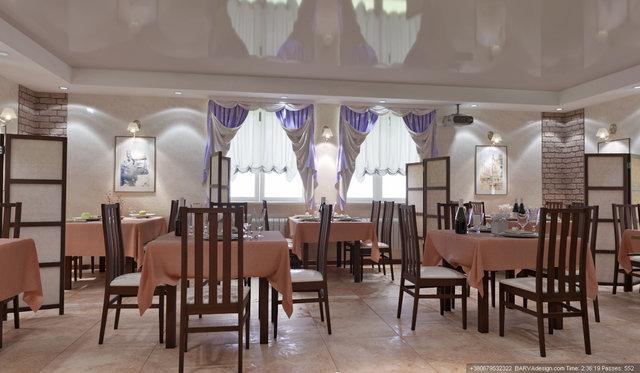 Дизайн інтер'єру готелю. Банкетний зал