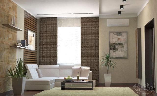 Дизайн гостиной в квартире с.Петровское