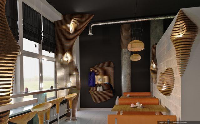 Дизайн протеїн-бару в спортклубі  вул.К. Данькевича