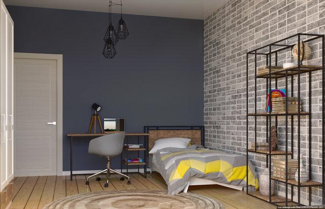 Дизайн інтер'єру дитячої кімнати, колір стін