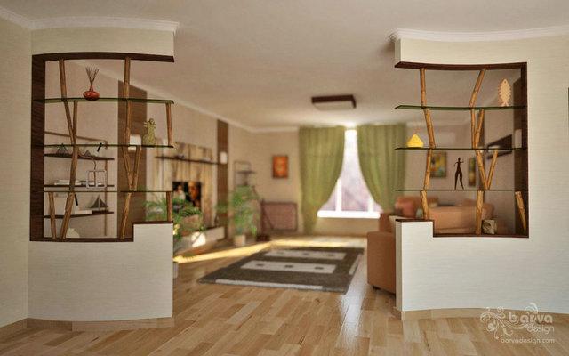 Дизайн дитячої. Декорування ніш, бамбукові перегородки, п'ятий варіант