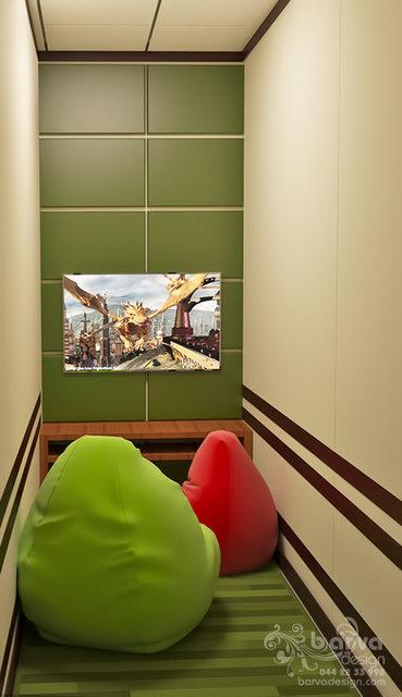Дизайн антикафе в Житомире. Малая комната для видеоигр