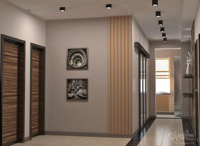 Интерьер для молодой семьи. Дизайн холла