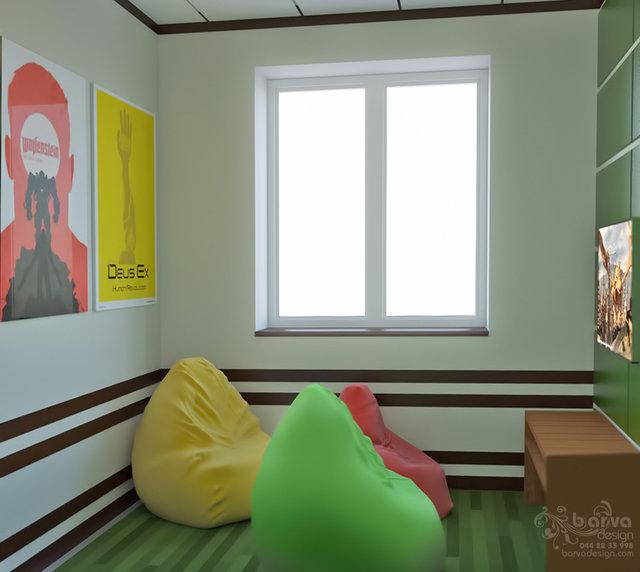 Дизайн антикафе в Житомире. Комната мувинговых игр