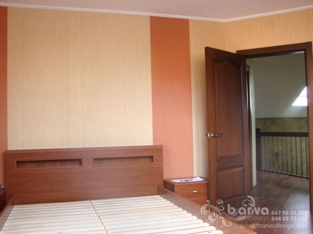 Фото спальни после ремонта. Дом в стиле кантри. с.Горбовичи