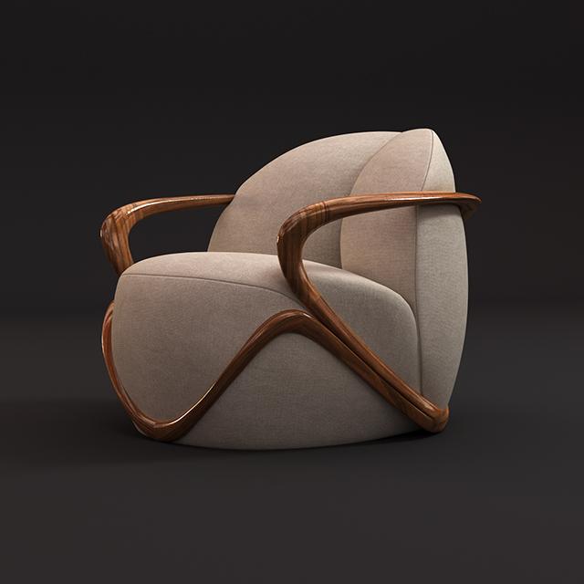 3d model Giorgetti Hug armchair