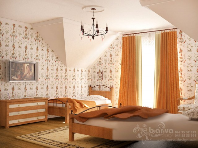 Дизайн спальни в стиле кантри. с.Горбовичи
