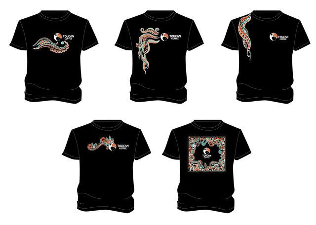 """Дизайн МАФу """"Toucan cofee"""" на вул.Павлівській. Дизайн фірмової футболки"""