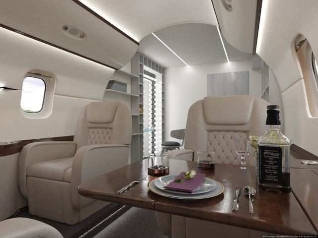 Дизайн інтер'єру фотостудії у вигляді салону приватного літака