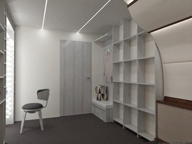 Дизайн інтер'єру фотостудії у вигляді салону приватного літака, гримувальна