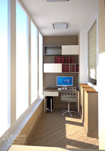 """Квартира в ЖК """"Зеленый остров"""". Дизайн кабинета на балконе"""