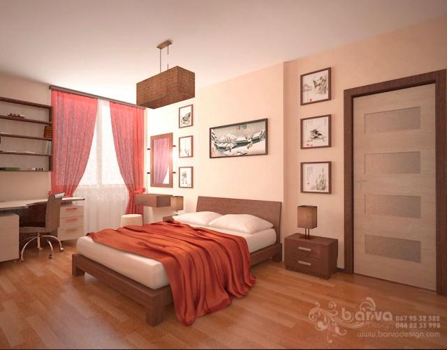 Дизайн спальни в 2-хкомнатной квартире по ул.О.Пчилки