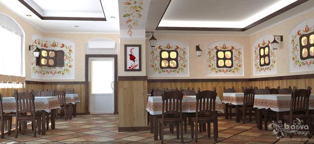 Дизайн кафе в украинском стиле