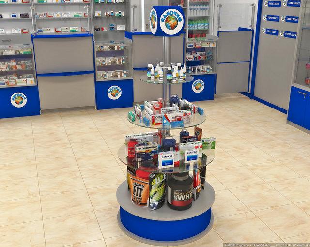 Дизайн интерьера аптеки