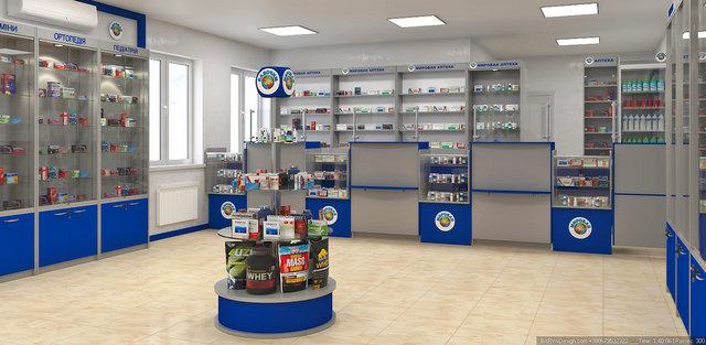 Дизайн интерьера аптеки в Обухове