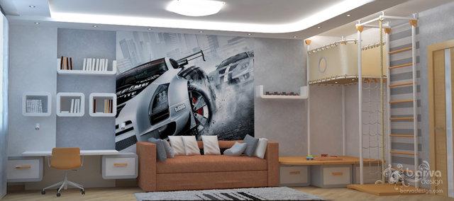 """Дизайн детской комнаты мальчика в 4-к квартире ЖК """"Паркове місто"""""""