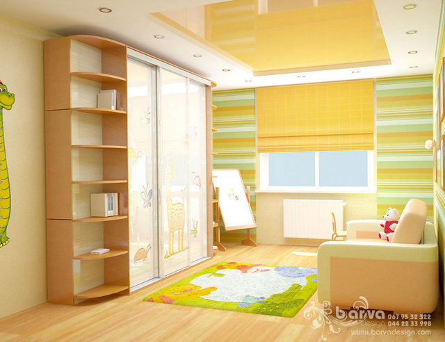 Дизайн детской для двух детей в квартире ул.Лаврухина