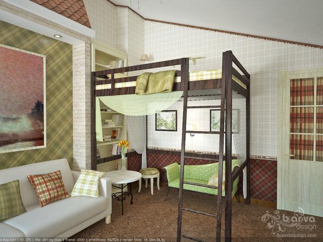 Дизайн детской в английском стиле.4 этаж таунхауса в п.Томилино