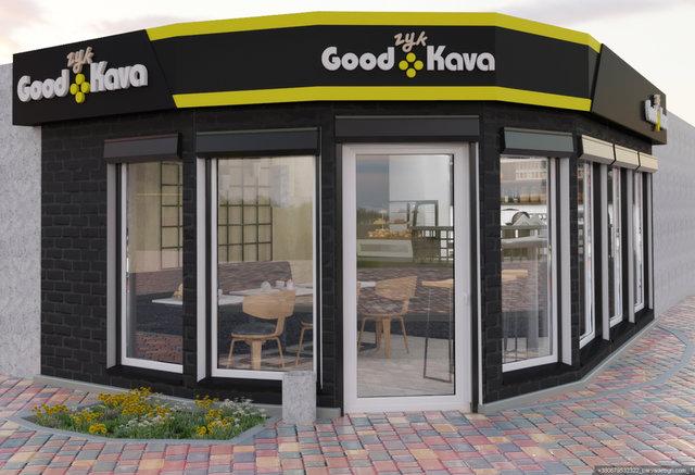 """Дизайн кав'ярні """"GOODzyk Kava"""""""