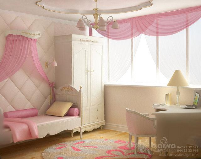 Дизайн детской для девочки в квартире в Москве