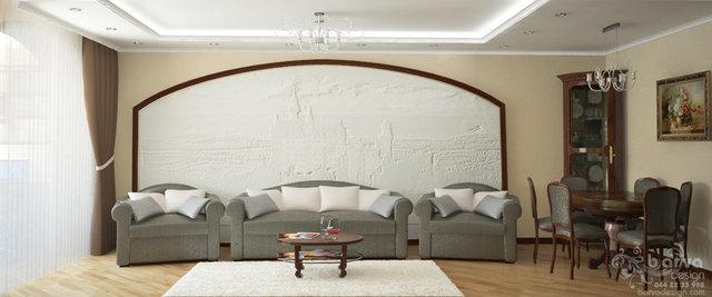 Современный классический интерьер. Дизайн гостиной