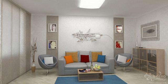 3-к квартира на Оболоні. Дизайн вітальні