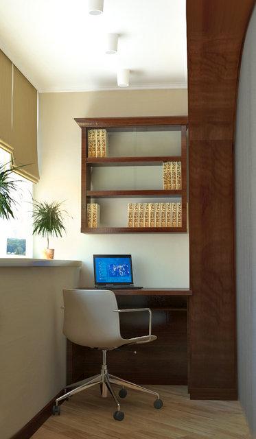 Сучасний класичний інтер'єр. Дизайн домашнього офісу