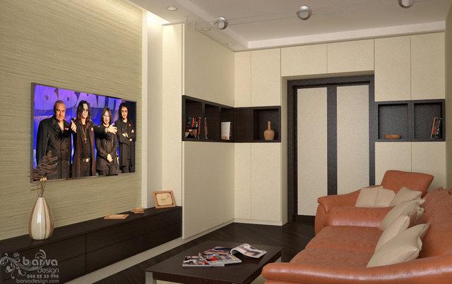 Дизайн квартири на Осокорках. Дизайн вітальні