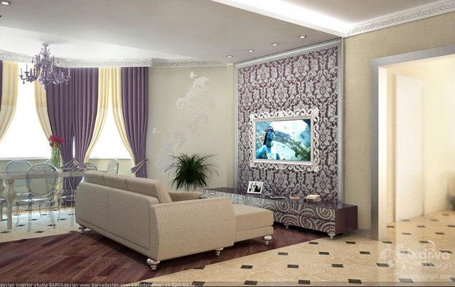 """Дизайн гостиной. Квартира в """"Парковому мicтi"""""""
